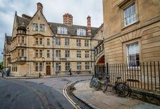 Via a Oxford con le biciclette Fotografia Stock