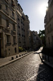 Via a Parigi Fotografie Stock Libere da Diritti