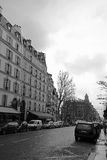 Via a Parigi Fotografia Stock Libera da Diritti