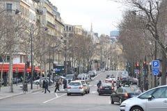 Via a Parigi Fotografie Stock