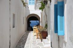 Via in Paros Fotografia Stock Libera da Diritti