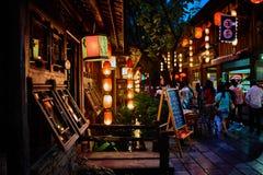 Via pedonale Chengdu Sichuan Cina di Jinli immagini stock
