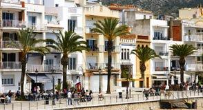 Via pedonale in Sitges Immagini Stock
