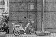 Via Phoyography nessun parcheggio della bicicletta immagini stock libere da diritti