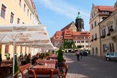 Via in Pirna in Saxon Svizzera Fotografie Stock Libere da Diritti