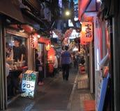Via posteriore Tokyo Giappone di vita di notte Fotografia Stock Libera da Diritti