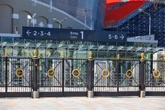 A via principal do estádio novo para o campeonato mundial 2018 Foto de Stock