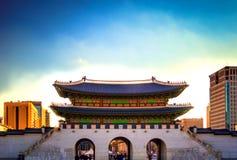 via principal do palácio coreano Foto de Stock