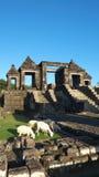 Via principal do palácio do boko do ratu Fotografia de Stock