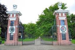 Via principal do parque do Queens, um parque público em Invercargill, NZ Imagens de Stock
