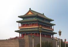 Via principal no Pequim antigo foto de stock