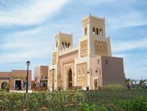 Via principal, Saidia e Medina moderno, Maroc norte Fotos de Stock