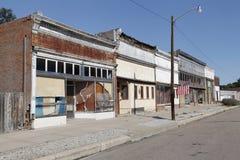 Via principale abbandonata della cittadina Immagine Stock Libera da Diritti