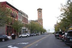 Via principale del centro di Tacoma Fotografia Stock Libera da Diritti
