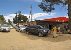 Via principale della città di signora Frere, Sudafrica fotografie stock libere da diritti