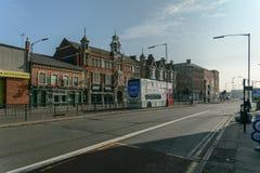 Via principale Deritend di Birmingham Digbeth immagine stock libera da diritti