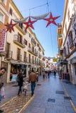 Via principale di Ronda, Malaga, Spagna Fotografia Stock