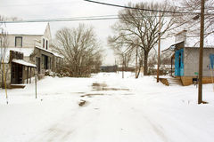 Via principale di Snowy fotografia stock libera da diritti