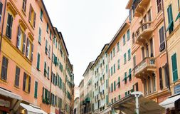 Via principale FO Rapallo fotografia stock