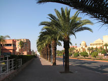 Via principale a Marrakesh Fotografia Stock
