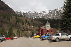 Via principale Ouray in Colorado Fotografia Stock