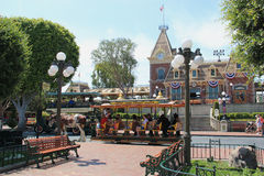 Via principale S S A a Disneyland California Fotografie Stock Libere da Diritti