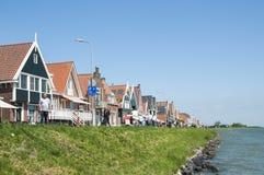 Via principale in Volendam Immagini Stock