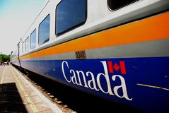 VIA Rail Canada train Stock Images