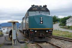 A via rail locomotive Stock Image