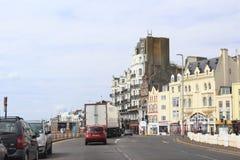 Via Regno Unito della città di Hastings Fotografia Stock Libera da Diritti