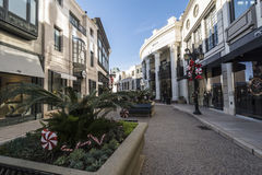 Via Rodeo. A high end section of rodeo drive, Via rodeo Royalty Free Stock Photo
