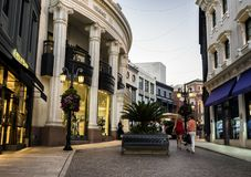 Via Rodeo - Rodeo Drive sunset on the August 12th, 2017 - Los Angeles, LA, California, CA Stock Photo