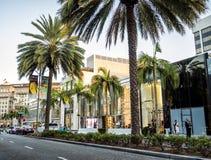 Via Rodeo - Rodeoaandrijving, palmen op 12 Augustus, 2017 - Los Angeles, La, Californië, CA Stock Afbeeldingen