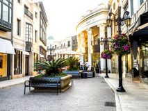 Via Rodeo sunset - Rodeo Drive on the August 12th, 2017 - Los Angeles, LA, California, CA Stock Image