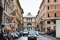 Via a Roma fotografie stock libere da diritti
