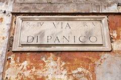 Via a Roma, Italia Fotografia Stock