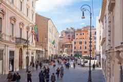 Via romana Immagine Stock