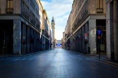 Via Rome, Turijn Stock Fotografie
