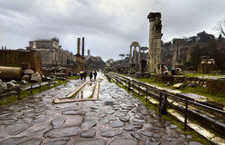 Via Sacra on the Forum Romanum stock photos