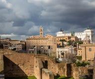Via Sacra Mening aan Foro-Romano royalty-vrije stock foto's