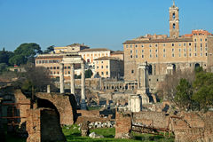 The Via Sacra in Rome Royalty Free Stock Photos
