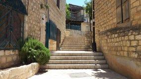 Via in Safed Fotografie Stock Libere da Diritti