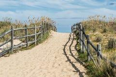Via in salita della spiaggia di Sandbridge Fotografia Stock Libera da Diritti