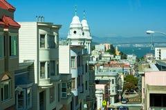 Via a San Francisco, California Fotografie Stock Libere da Diritti
