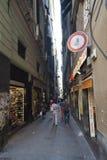 Via San Luca, Genua Stock Fotografie