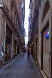 Via San Luca, Genua Stock Foto's