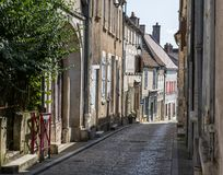 Via in Sancerre Cher, Francia fotografia stock