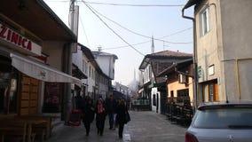 Via Sarajevo del ristorante video d archivio