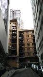 Via scura a costruzione residente Fotografie Stock