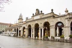 Via Sentierone - straatmening, Bergamo, Italië Royalty-vrije Stock Afbeeldingen